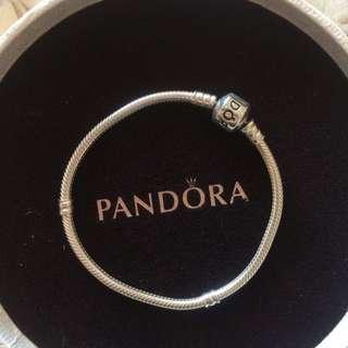 Authentic Pandora Charm Sterling Silver Bracelet