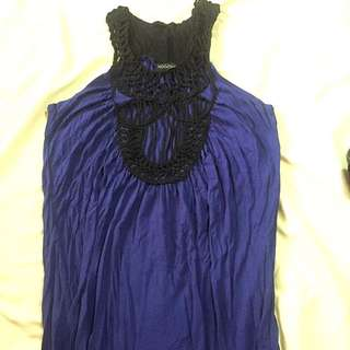 Black And Blue Top