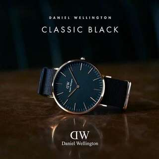 DANIEL WELLINGTON Classic Black  圣诞佳节优惠好响亮️ 绝对正版‼