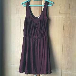H&m Dark Maroon Dress Size 8