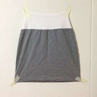 White panel grey bandage skirt