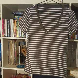 Khaki Striped Ally Shirt
