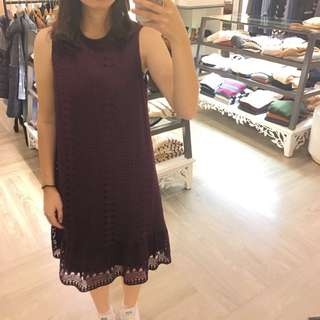 Ps Company 酒紅蕾絲洋裝