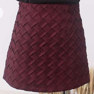 TCL Inspired Skirt In Wine Red