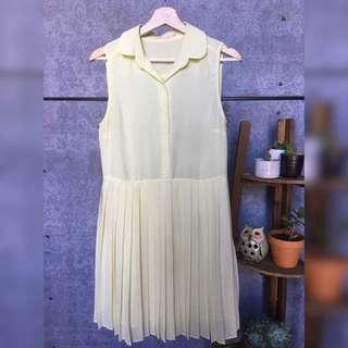 Don't Ask Amanda Sheer Top Pleat Dress