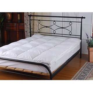 100% White Duck Feather Mattress Topper -QUEEN