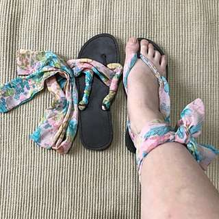 Sendal Pita Tie Up Sandals