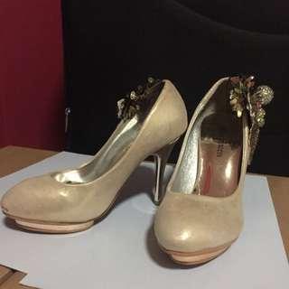 Golden Beige Heels