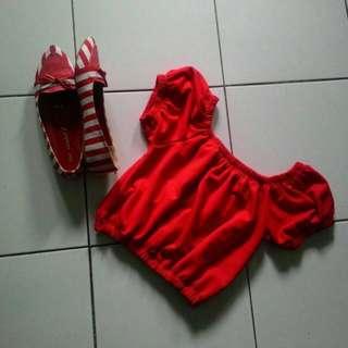 Red Top Sabrina