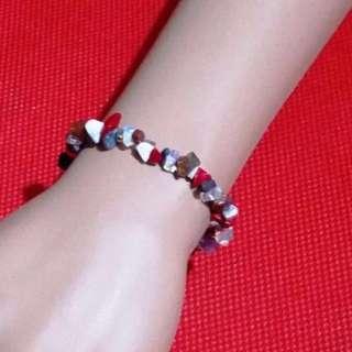 Crystal Energy bracelet - blend of natural gemstones chip beads