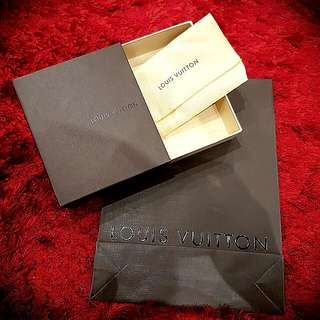 Authentic Louis Vuitton Wallet Gift Box With Dustbag Plus Gift Paper Bag