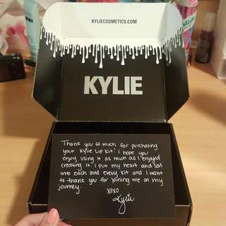 Kylie Cosmetics Box and Card