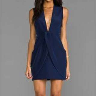 Finders Keepers The Label Paper Ships Dress Navy S