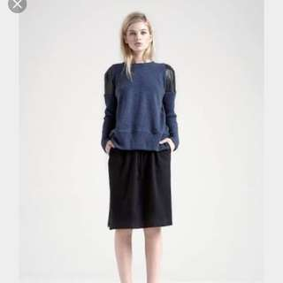Victoria + Woods Joker Crew Jumper Knit Leather Size 1