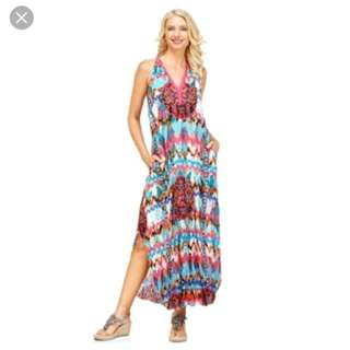 Adrift Sicily Maxi Dress XS New
