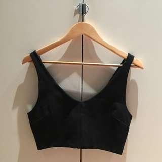 Sportsgirl Black Cropped Bralette Top S 8