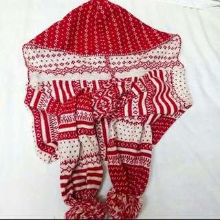 耶誕風•圍巾....♡