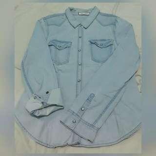 TRUE LOVE Denim Polo Shirt