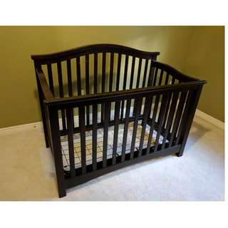 Espresso Stained Baby Crib