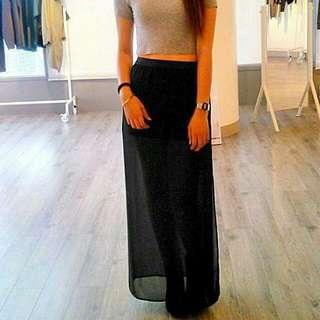 H&M Sheer BLack Skirt