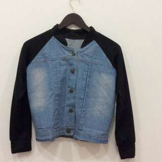 Raglan Denim Baseball / Varsity Jacket