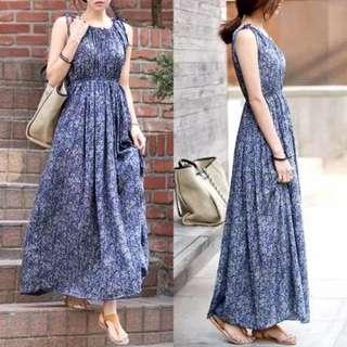 Bohemian Sleeveless Maxi Dress - SD1223003