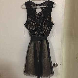 Laced Gold And Black dress