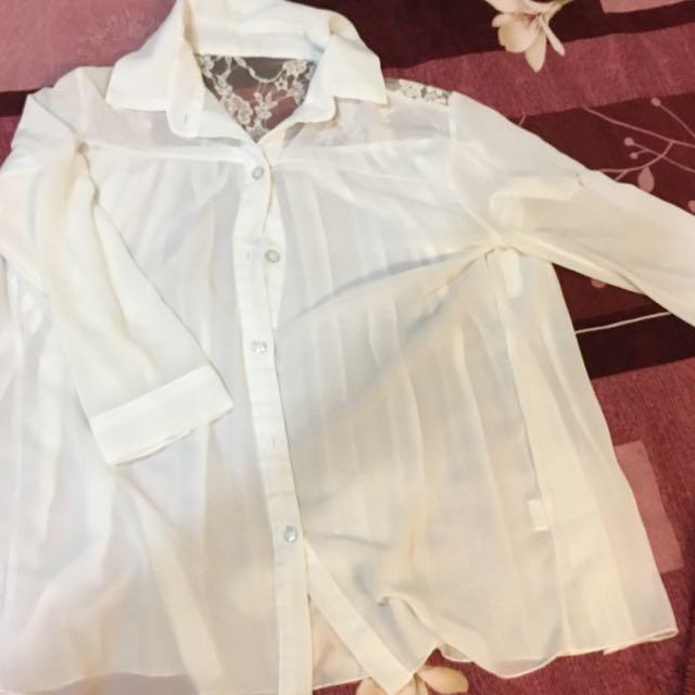 學紡蕾絲襯衫