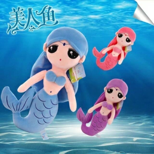 [話題新品] 美人魚可愛抱枕50公分大款藍色海洋的傳說李敏鎬全智賢韓劇 聖誕節新年交換禮物生日禮物寶寶禮物創意