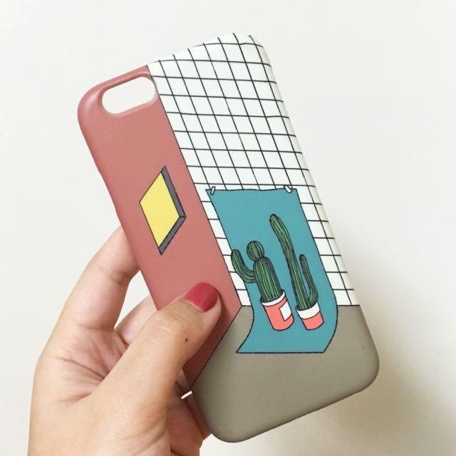 蘋果 iPhone 6/6s 4.7寸 仙人掌 韓系 簡約 手機殼