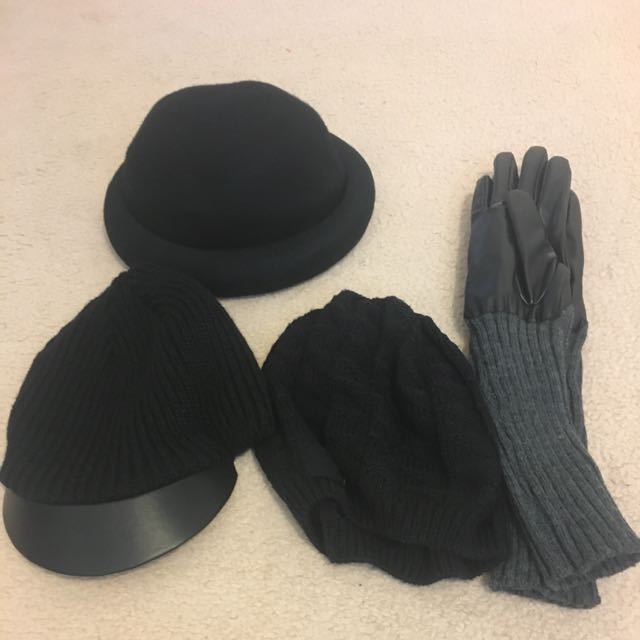 Assorted Hats, Beanies And Gloves