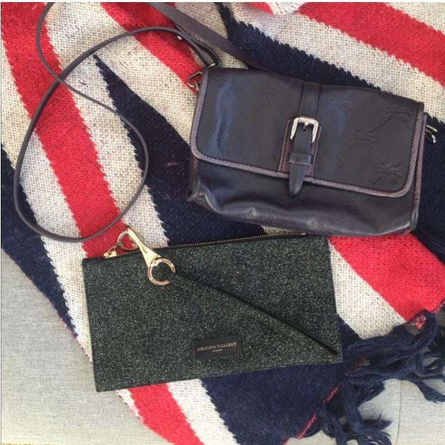 *Authentic Longchamp Leather Shoulder Bag