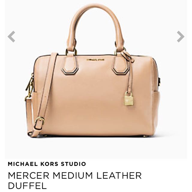 52adf35585f0 Authentic Michael Kors   MERCER MEDIUM LEATHER DUFFEL