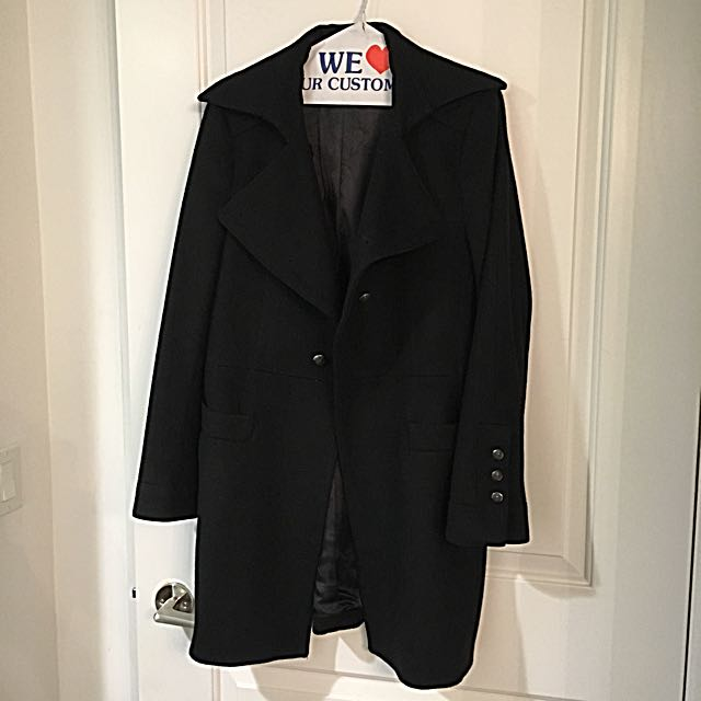 Black Winter Coat / Large