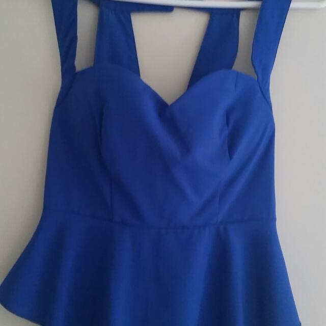 Blue PEPLUM