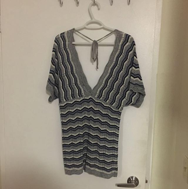Brand New V Neck Knitted Top