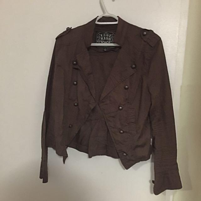 Brown Jacket By Last Kiss