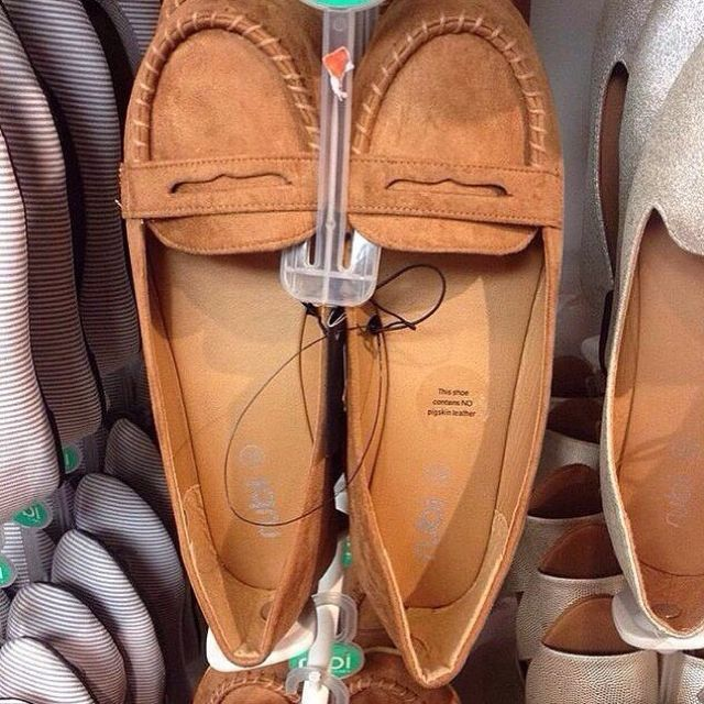 Brown Moccasins Flats by RUBI SHOES