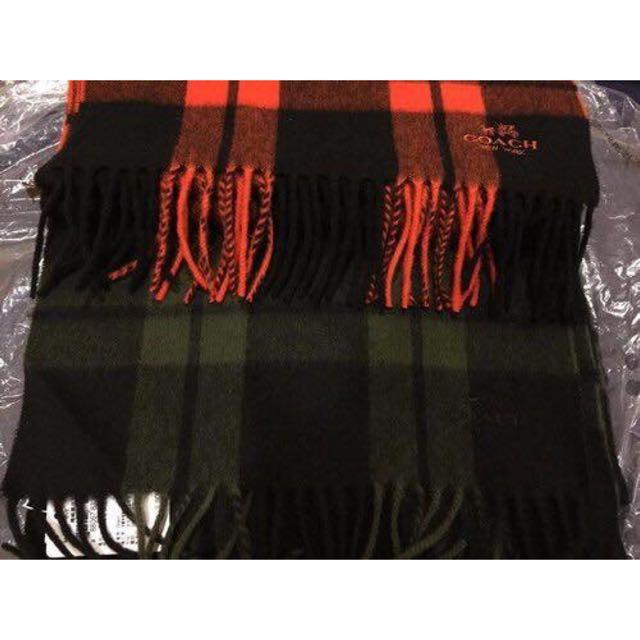 Coach圍巾 B家風格菱格圍巾