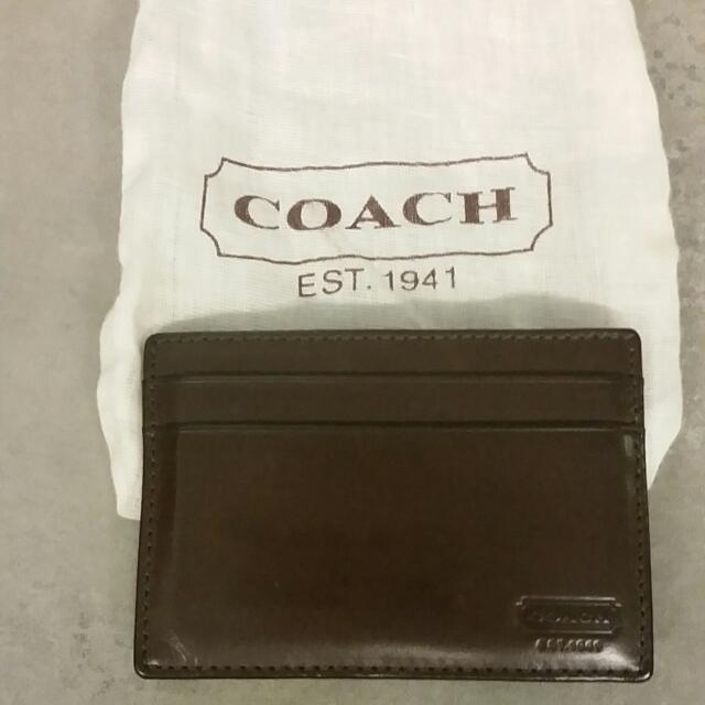 d95ce04ee39dc Coach Card Holder And Money Clip (Mahogany)