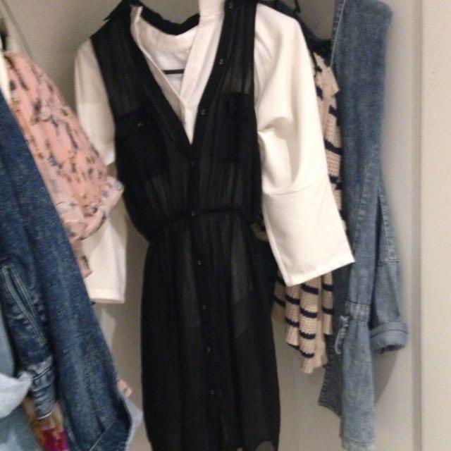 Cotton On Black Sheer Dress