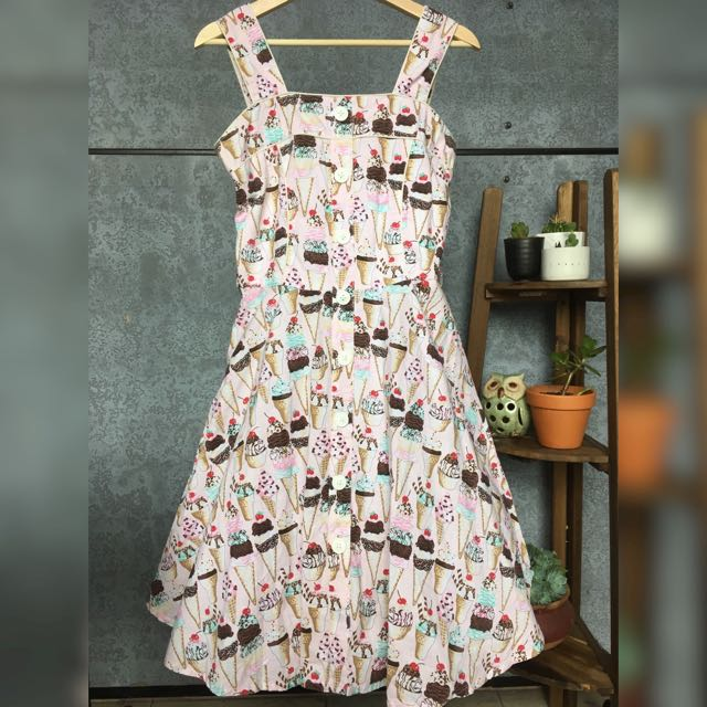 Dangerfield Revival A-Line Ice Cream Dress