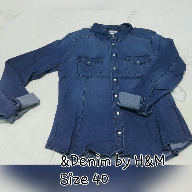 DENIM POLO &denim By H&M SIZE 40