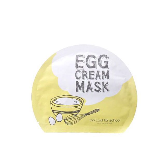 Egg Cream Mask Sheet Too Cool For School
