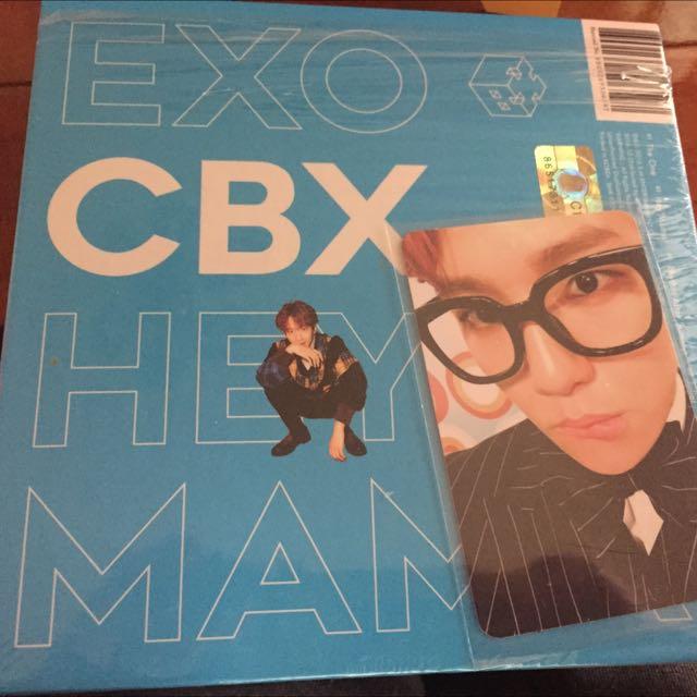 EXO CBX小分隊 伯賢個人封面專輯+小卡