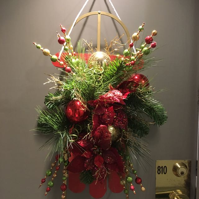 Festive Christmas Door Decoration