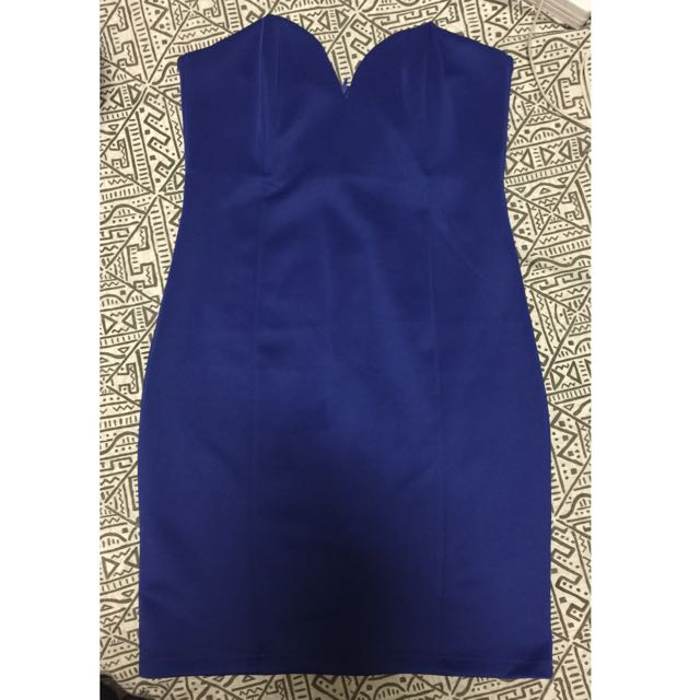 FOR SALE - ELECTRIC BLUE MIDI DRESS - SIZE M (10)