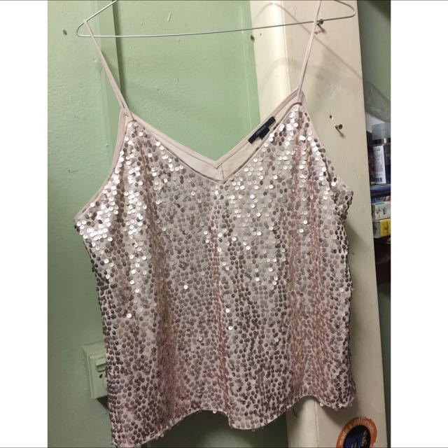 FOR SALE - Gold Sequence Top - Size 12