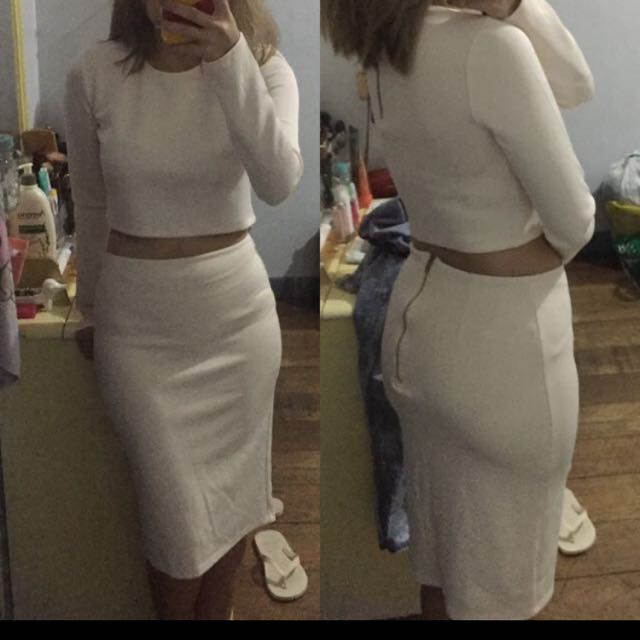 forever21 top and skirt set