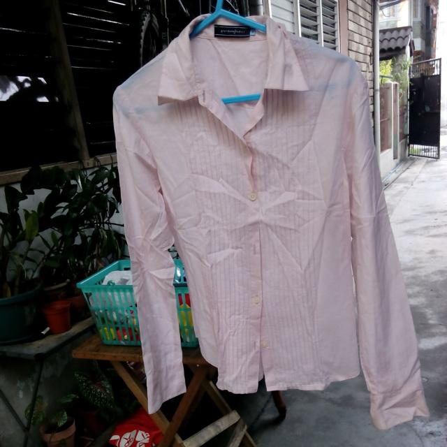 Giordano Baby Pink Lonh sleeves top